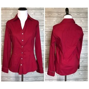 4 for $25 Express essential red button down top